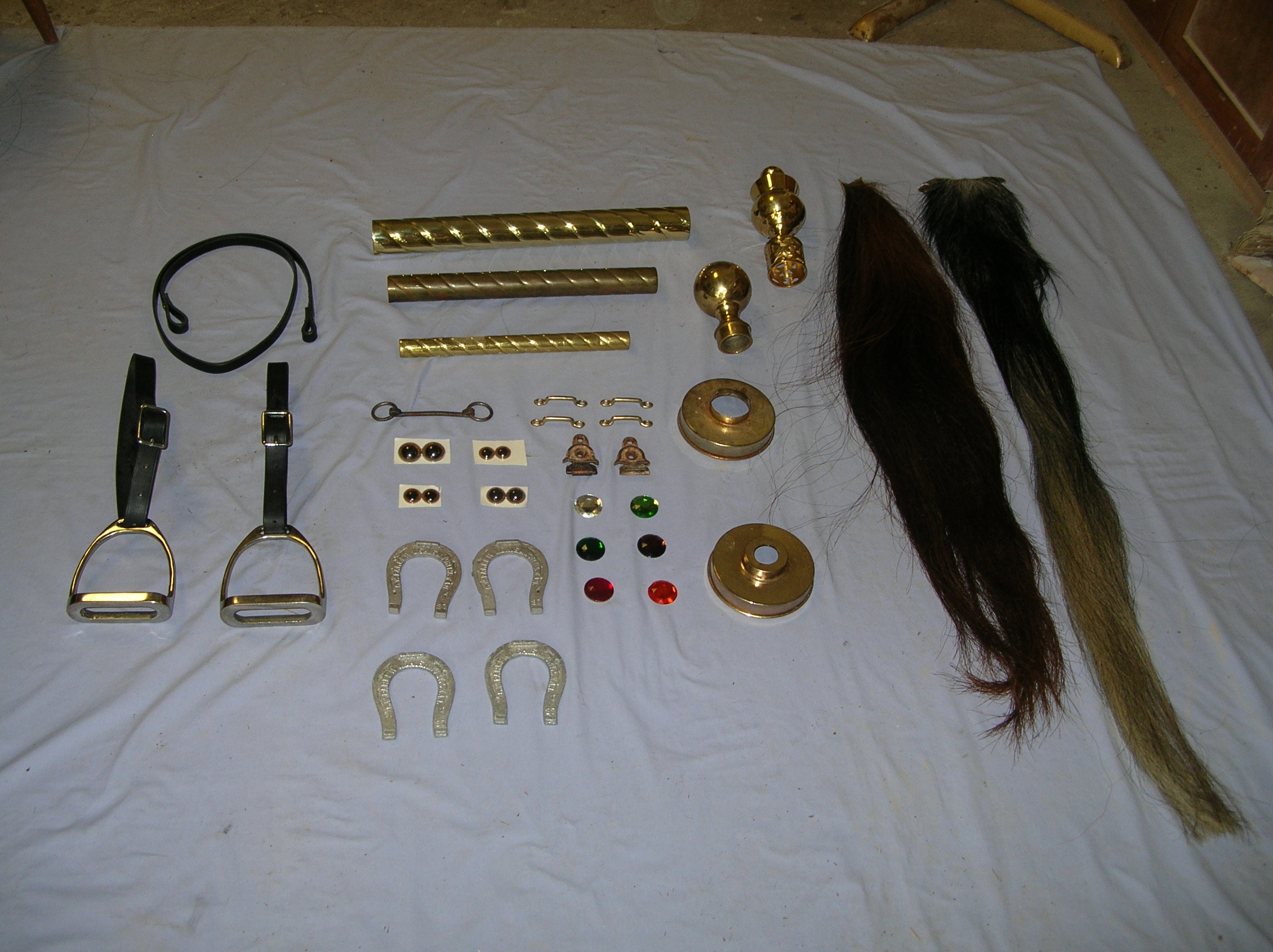 Carousel Supplies, Eyes, Brass, Stirrups, Tails