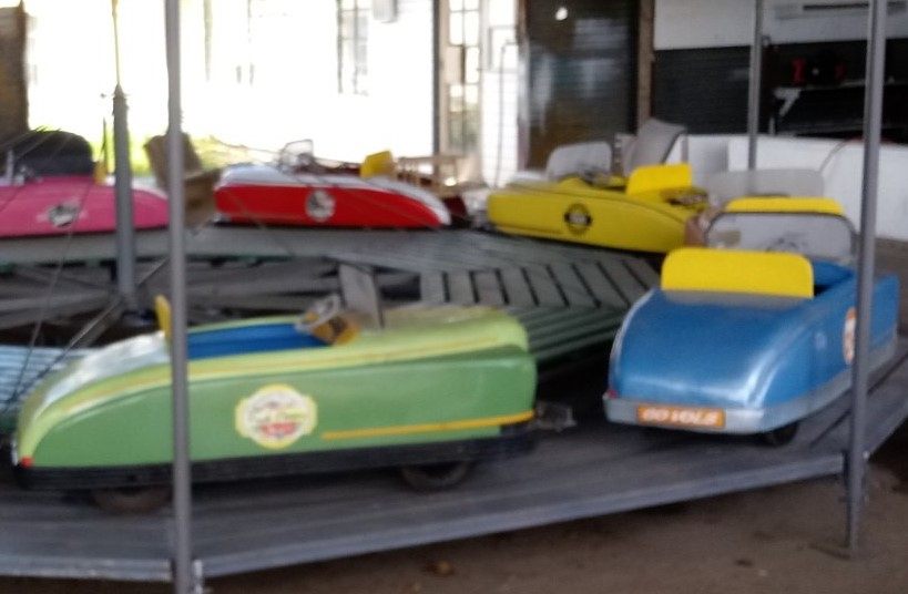Allan Herschell Automobile Carousel, 22 foot diameter, 10 cars