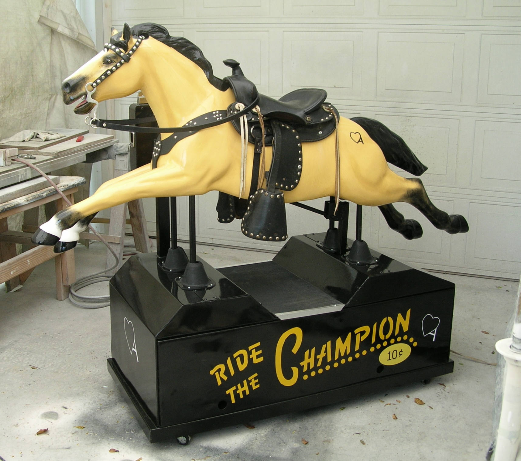 Coin operated Horse...Painted as your Horse