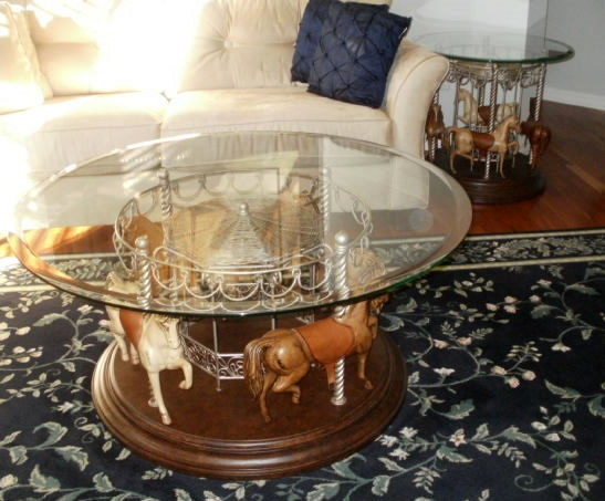 4 Horse Carousel Coffee Table Gt Carousel Furniture Amp Decor