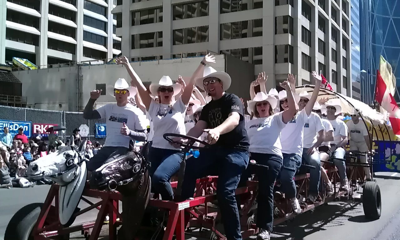 Our Horse Head Bike at 2011 Calgary Stampede Parade