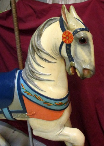 Stein & Goldstein Stander Inner Row Carousel Horse in Old Park Paint