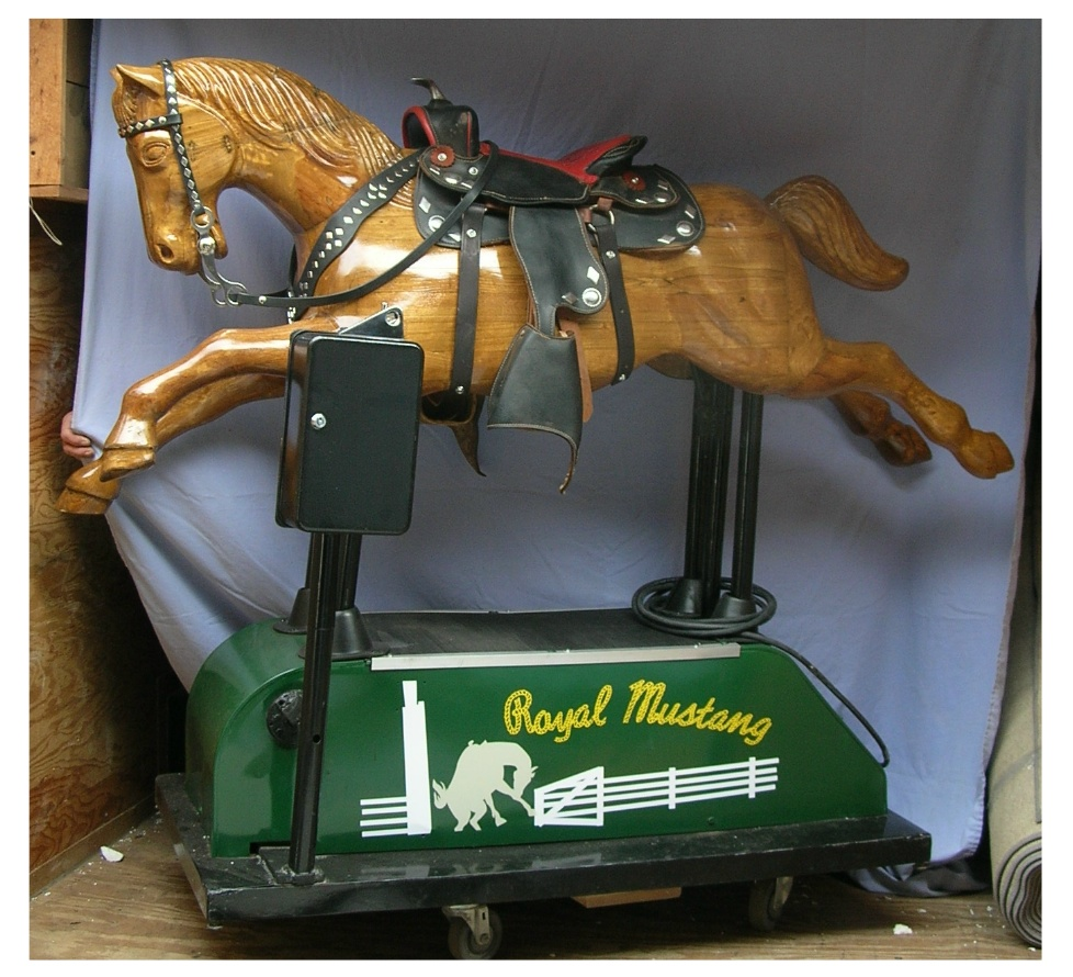 Royal Mustang, Wood Coin Operated Horse