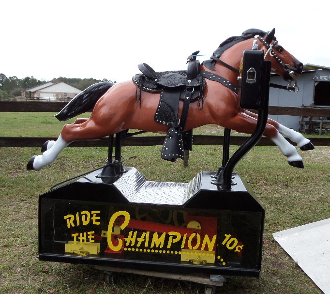 Plexiglass Sided Champion Coin-Op Horse