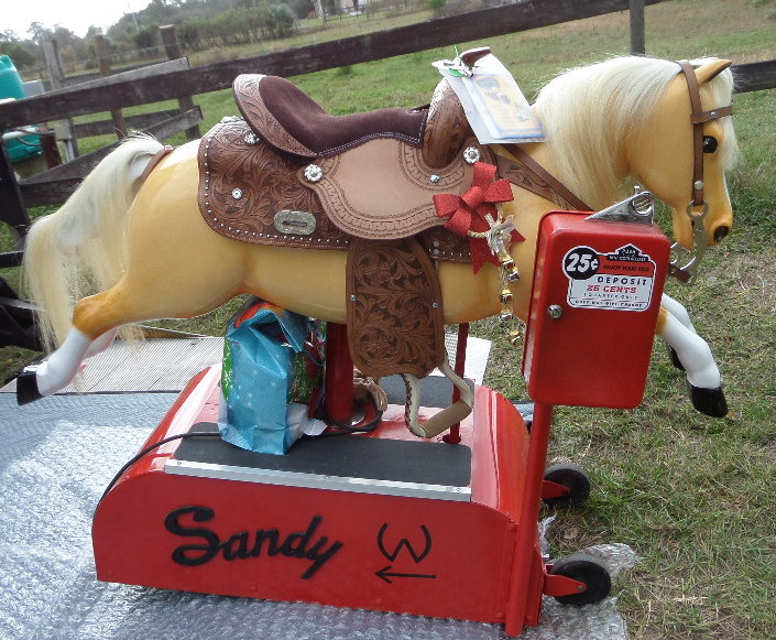 Palomino Sandy Coin Operated Horse