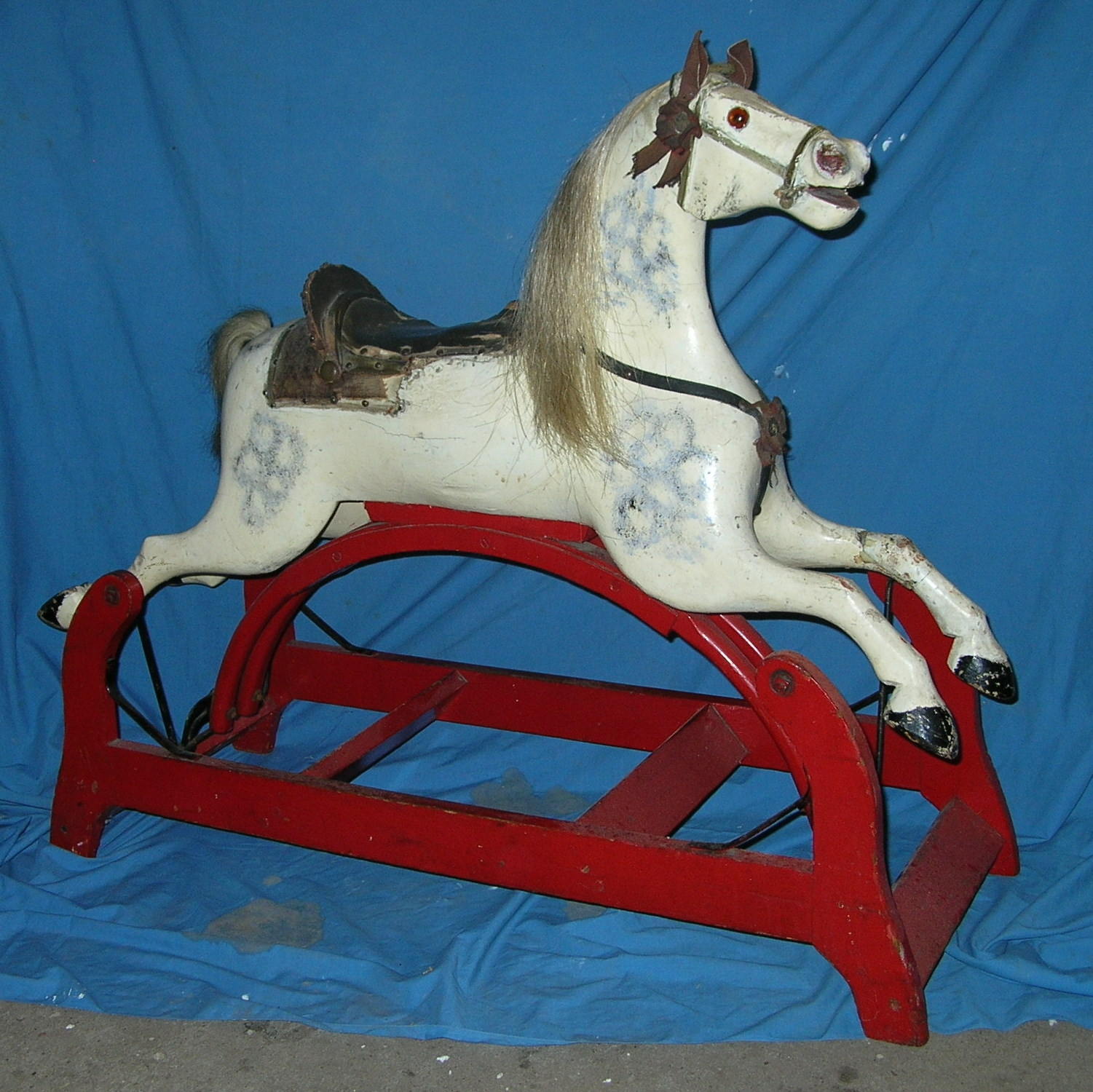 "Whitney Reed Swinging Glider Horse #14 - 45"" long"