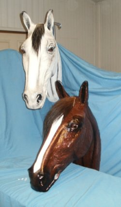 Hand Painted Life size Horse Head