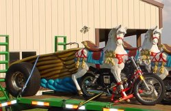 Double Carousel Horse and Chariot Motorcycle