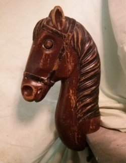 Antique Horse Head for Children's Antique Barber Chair