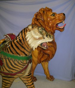 Carousel Lion and Tiger restoration