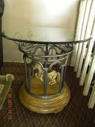 Carousel End Table  Glass Top (single Horse)
