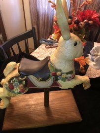 Table top Flirting Carousel Rabbit