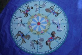 "Round Carousel Rug 58"" by Claire Murray"