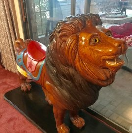 Carousel Lion Contemporary Wood Carving