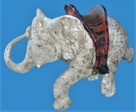 'Dumbo' Indian Elephant with Hoodah