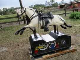 Plexiglas Sided Champion Coin-Op Buckskin Horse