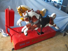 "Vintage Kiddie Ride ""The Pony Twins"""