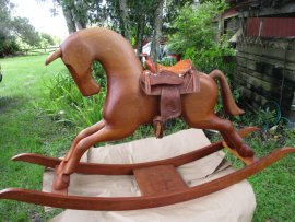 Rocking Horse Western Saddle