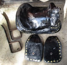 Fiberglass Kiddie Ride Saddles Unrestored
