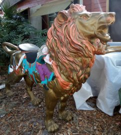 Life sized Carousel Lion