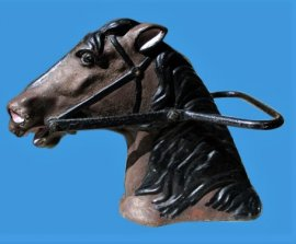 Cast Iron Carousel Horse Head from Kiddie Ride