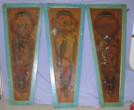 3 Antique Carousel Panels from Church Street