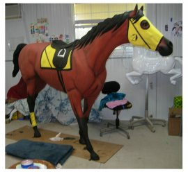 Walking or Running Race Horse, Life Size American Pharoah
