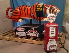 "Esso Tiger Coin Op Kiddie Ride ""Put a Tiger in Your Tank"""