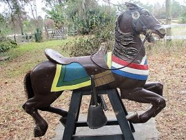 Stein & Goldstein Barber Chair Carousel Horse Original Paint
