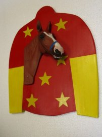 Justify Triple Crown Winner 3-d Wall Hanging