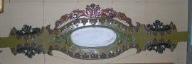 Decorative Carousel Rounding Board panel with Oval mirrors