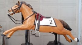 Custom Kiddie Ride Race Horse Derby TB