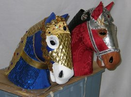 Medieval Armored Horse Heads