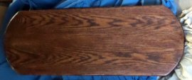 Wood Base - For Large Jumper or small Stander  Oak stained Mahagony color