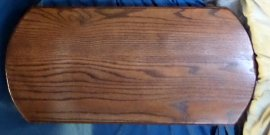 Wood Base - For Jumpers  Oak stained Mahagony color