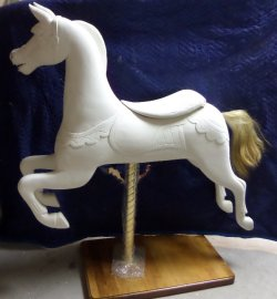Track Machine Carousel Horse Base Set