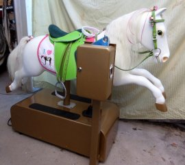My Pretty Pony Coin Operated Horse ...English Saddle