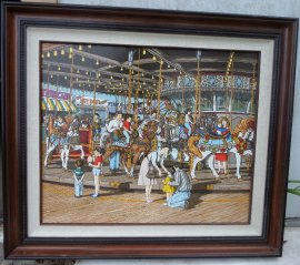 """The Carousel"" Serigraph by Hargrove"
