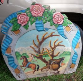 Carousel Horseshoe and Roses  Carousel Panel Rounding Board