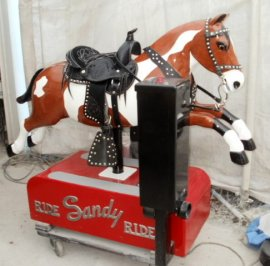 Sandy Coin Operated Horse Tri Paint