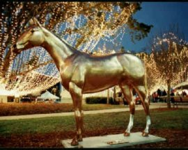 Life Size Fiberglass Thoroughbred Horse