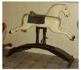 "Whitney Reed Spring Frame Horse 44"" long"