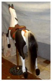 Carousel Horse Tail for Traveler Size Jumpers 24-33 inch