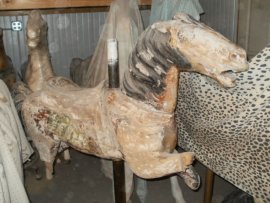 Herschell-Spillman Carousel Horses unrestored Project Full mane