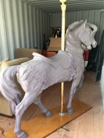 PTC Large Carousel Horse Stander Unpainted ,60 inches tall
