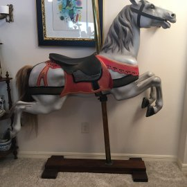 Antique Wood Dentzel  Jumper Carousel Horse