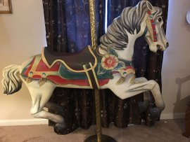 Spillman Engineering Flowered Carousel Jumper Horse