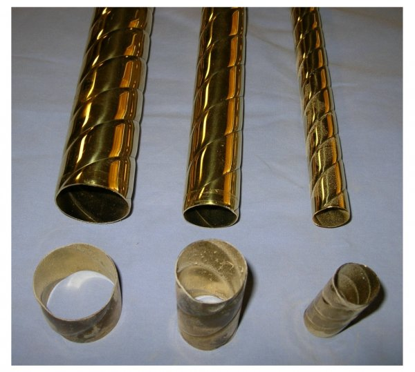 Twisted Brass Carousel Poles