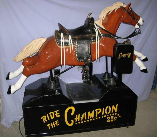 Coin operated Champion Horse (Gene Autry's Horse)
