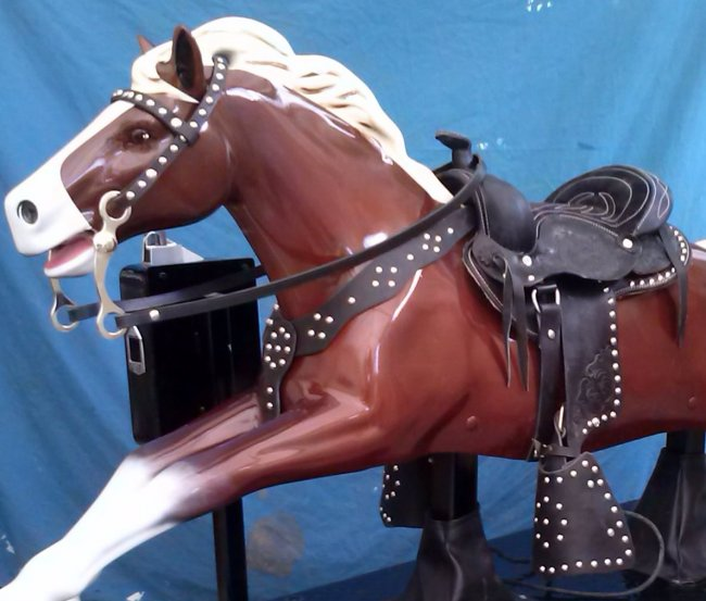 Coin-operated Kiddie Ride Horse Saddle Set